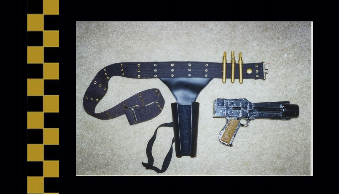 Colonial Warrior blaster and holster