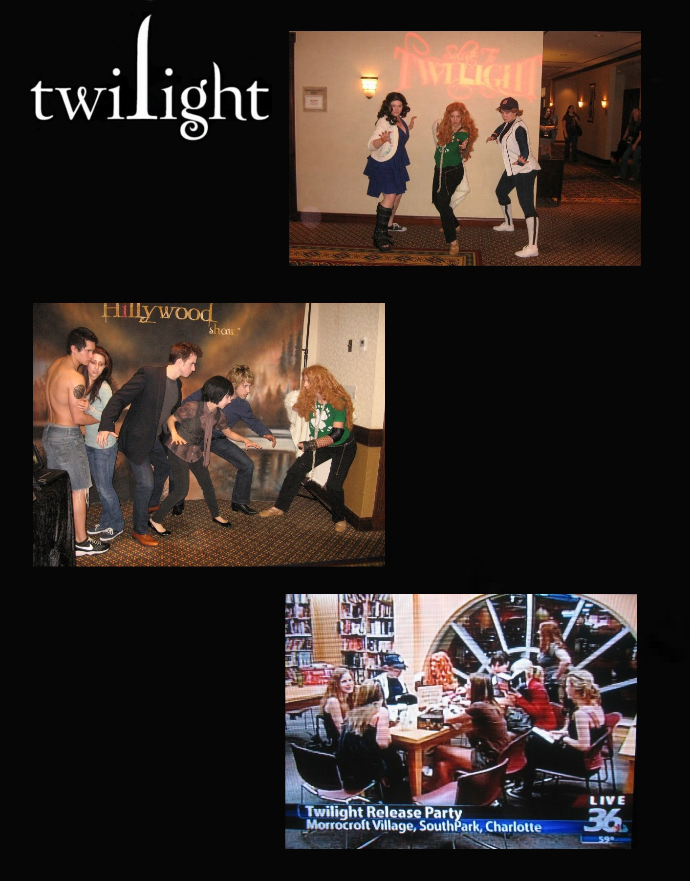 Twilight Creation Con/New Moon DVD release party